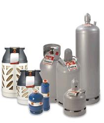 Klicka här för att se vårt urval av gas- och gasolflaskor.